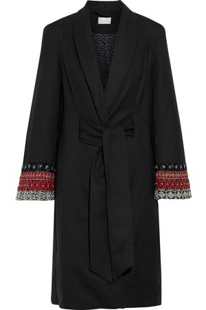 Camilla Woman Embellished Wool-twill Trench Coat Size S