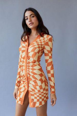 NGOrder Warped Pattern Mini Dress