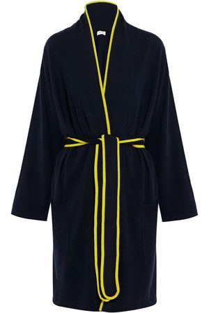 Chinti & Parker Woman Belted Wool And Cashmere-blend Robe Navy Size M/L