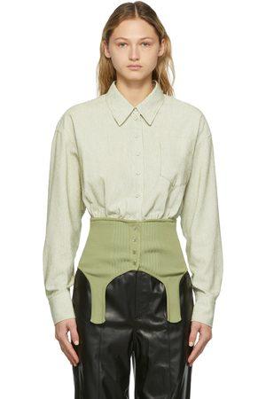 SJYP Green Corduroy Contrast Shirt