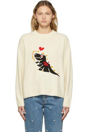 SJYP SSENSE Exclusive Off-White Sambypen Edition Graphic Crewneck Sweater