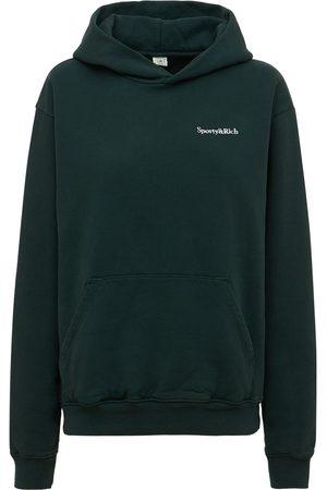 Sporty & Rich Women Hoodies - Serif Logo Sweatshirt Hoodie