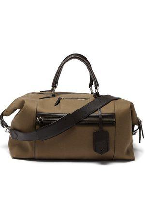 Métier Vagabond Leather-trim Twill Holdall - Mens - Khaki