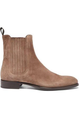 BRIONI Suede Chelsea Boots - Mens - Dark