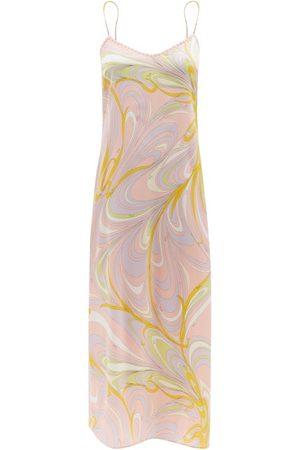 Emilio Pucci Printed Silk-blend Satin Slip Dress - Womens