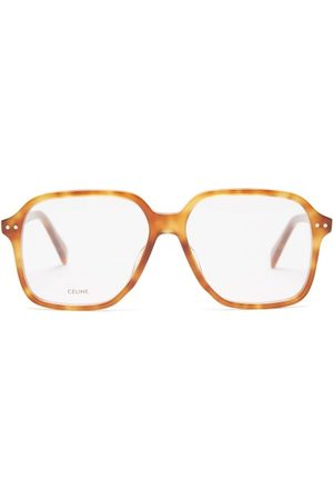 Céline Square Tortoiseshell-acetate Glasses - Mens - Light