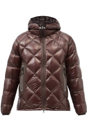 and wander Hooded Diamond-quilted Coat - Mens