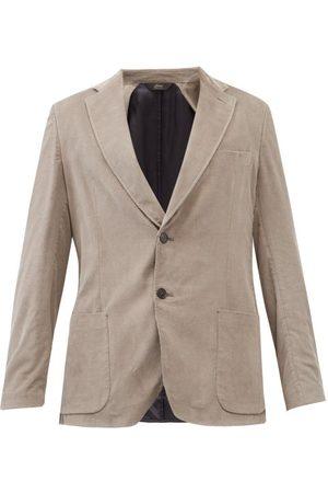 BRIONI Sea Island Cotton-corduroy Suit Jacket - Mens - Grey