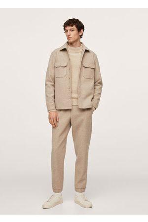 MANGO Men Waistcoats - Pocket textured jacket