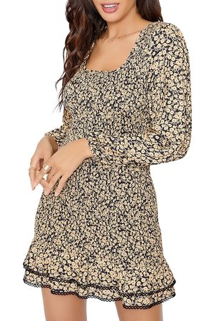 Lost + Wander Women Party Dresses - Smocked Floral Mini Dress