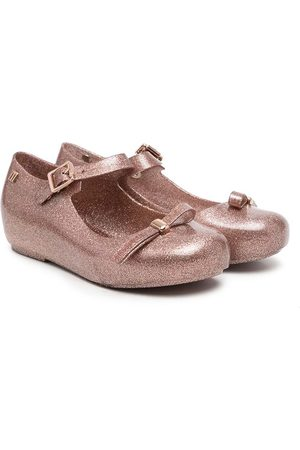 Mini Melissa Girls Ballerinas - Dora bow-embellished ballerinas - Metallic