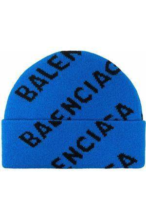 Balenciaga Men Beanies - All-over logo beanie