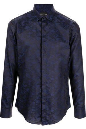 Emporio Armani Men Long sleeves - Long-sleeve cotton shirt