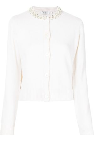 B+AB Women Cardigans - Pearl-collar cardigan