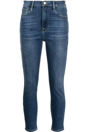 Frame Women High Waisted - Ali high rise cigarette cropped jeans