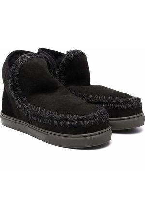 Mou Ankle Boots - Whipstitch sheepskin boots