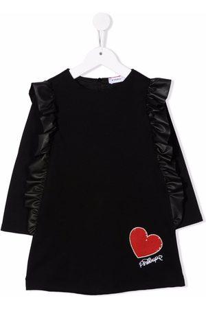 Pinko Kids Girls Casual Dresses - Ruffle-trimmed cotton dress