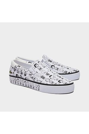 Lacoste Men's x Peanuts Snoopy Wide Last Slip-On Casual Shoes in /- Size 8.0