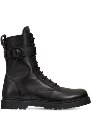 Moncler Petite Carinne Leather Ankle Boots