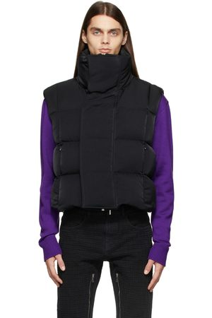 Givenchy Men Gilets - Black Down Squared Quilting Puffer Vest